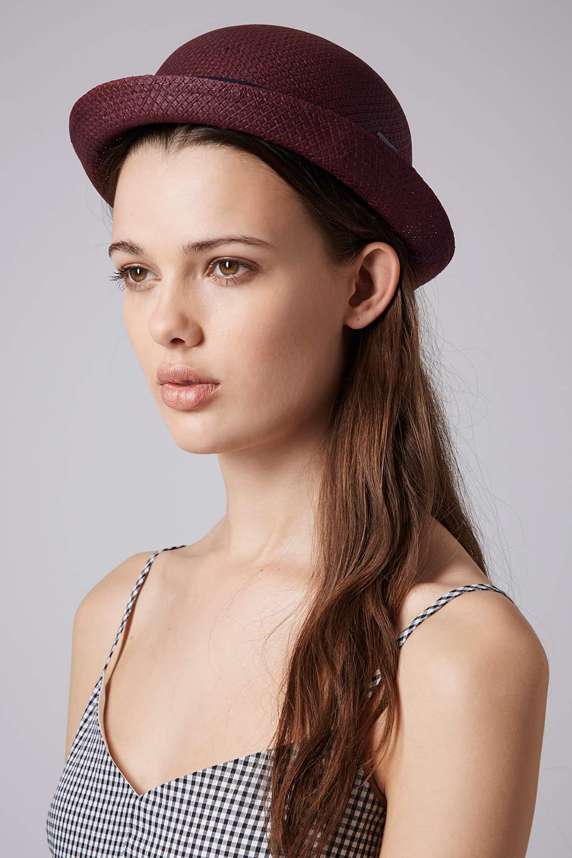 d5652fa35 TOPSHOP Red Womens Box Band Bowler Hat