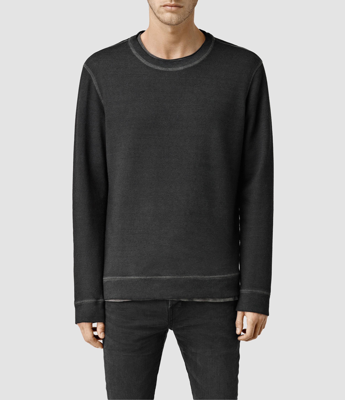 Allsaints Seattle Wa: Allsaints Hoking Crew Sweatshirt Usa Usa In Gray For Men