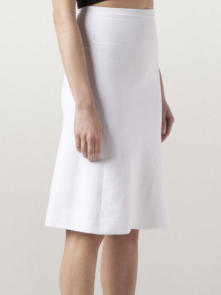 calvin klein a line skirt in white lyst