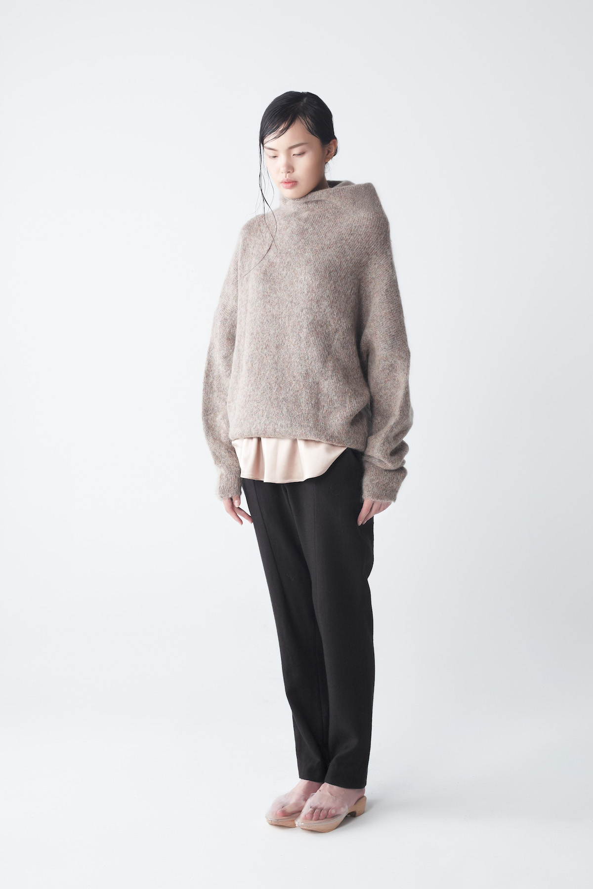 neemic eden oversized mohair sweater in beige lyst. Black Bedroom Furniture Sets. Home Design Ideas