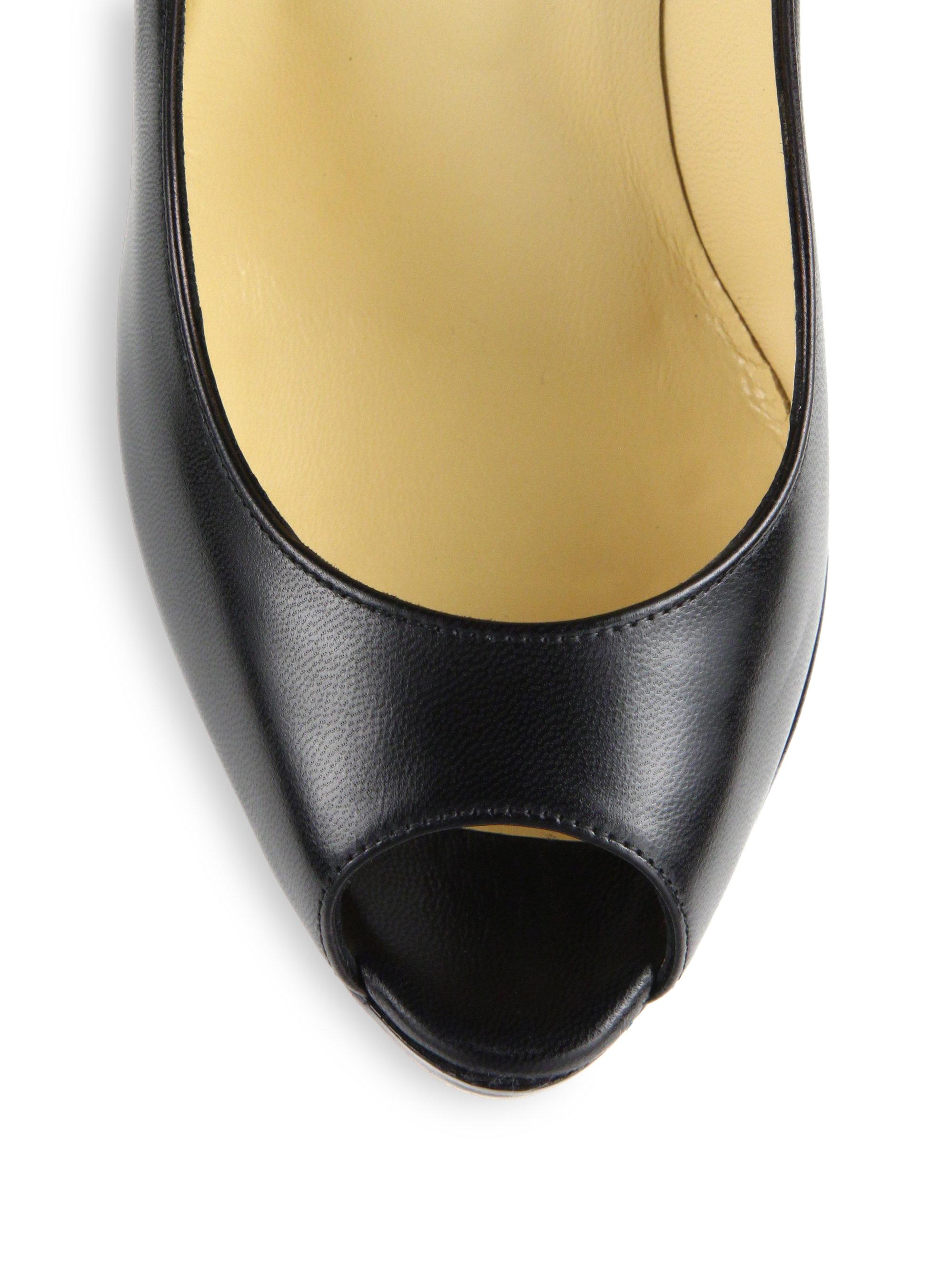louboutin shoes replica - Christian louboutin Jamie Leather Platform Pumps in Black   Lyst