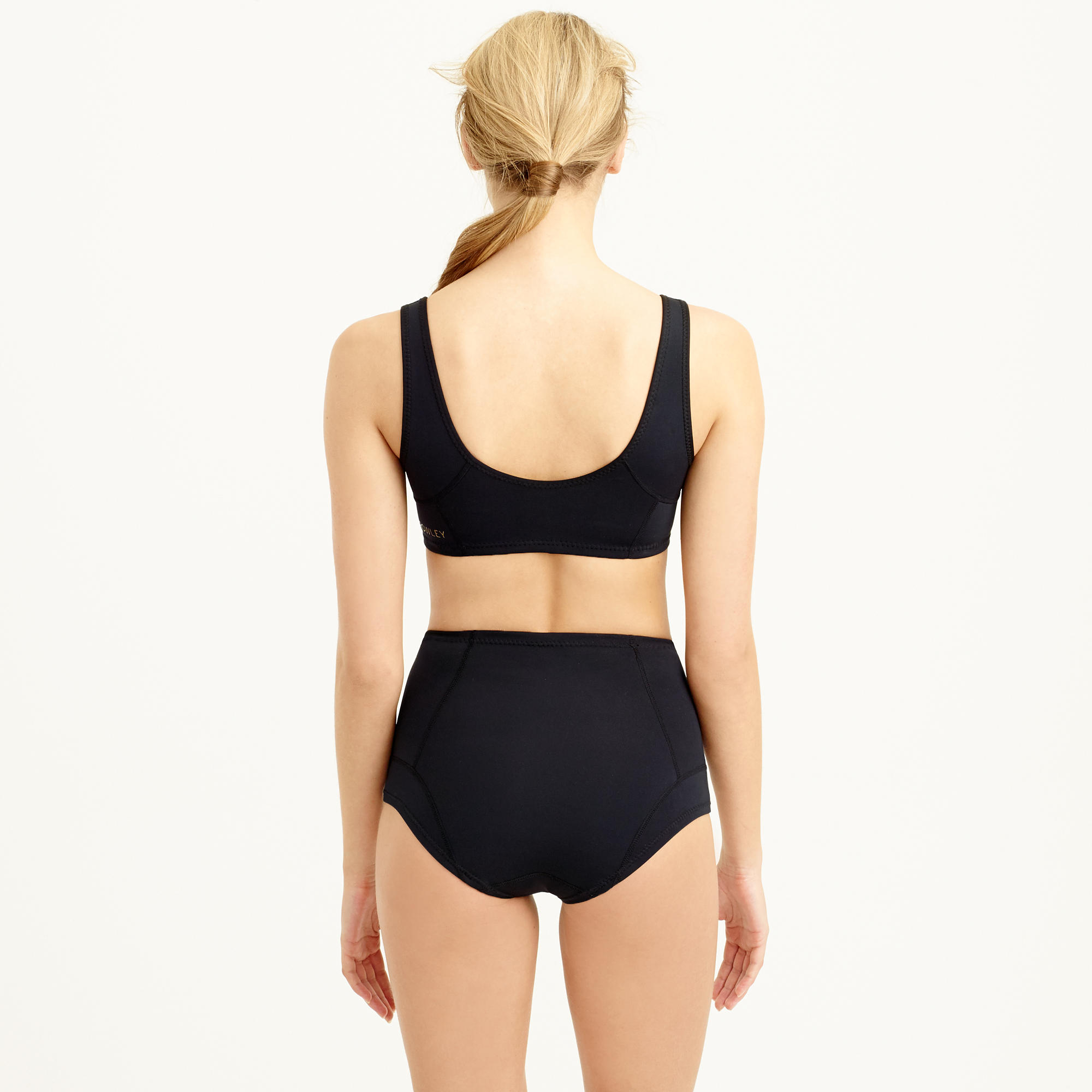 J Crew Cynthia Rowley High Waisted Bikini Bottom In Black
