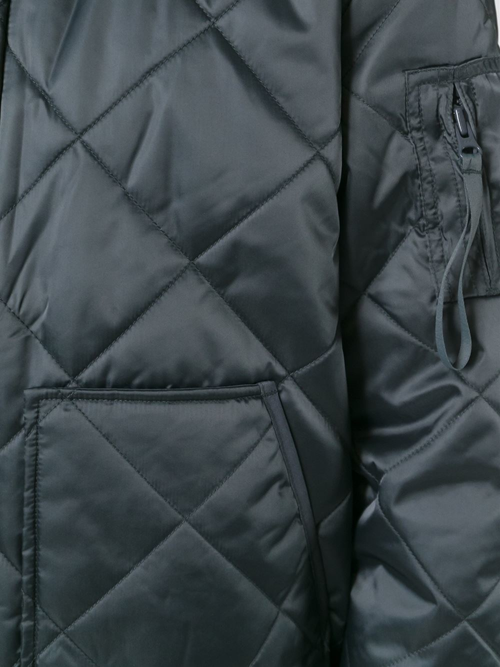 adidas Originals Quilted Bomber Jacket in Grey (Grey) for Men