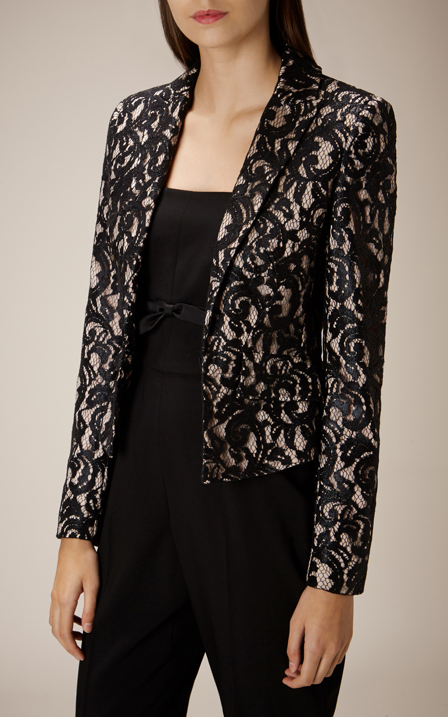 Get free shipping on Caroline Rose Luxury Lace Jacket, Gold/Black at Neiman Marcus. Shop the latest luxury fashions from top designers.