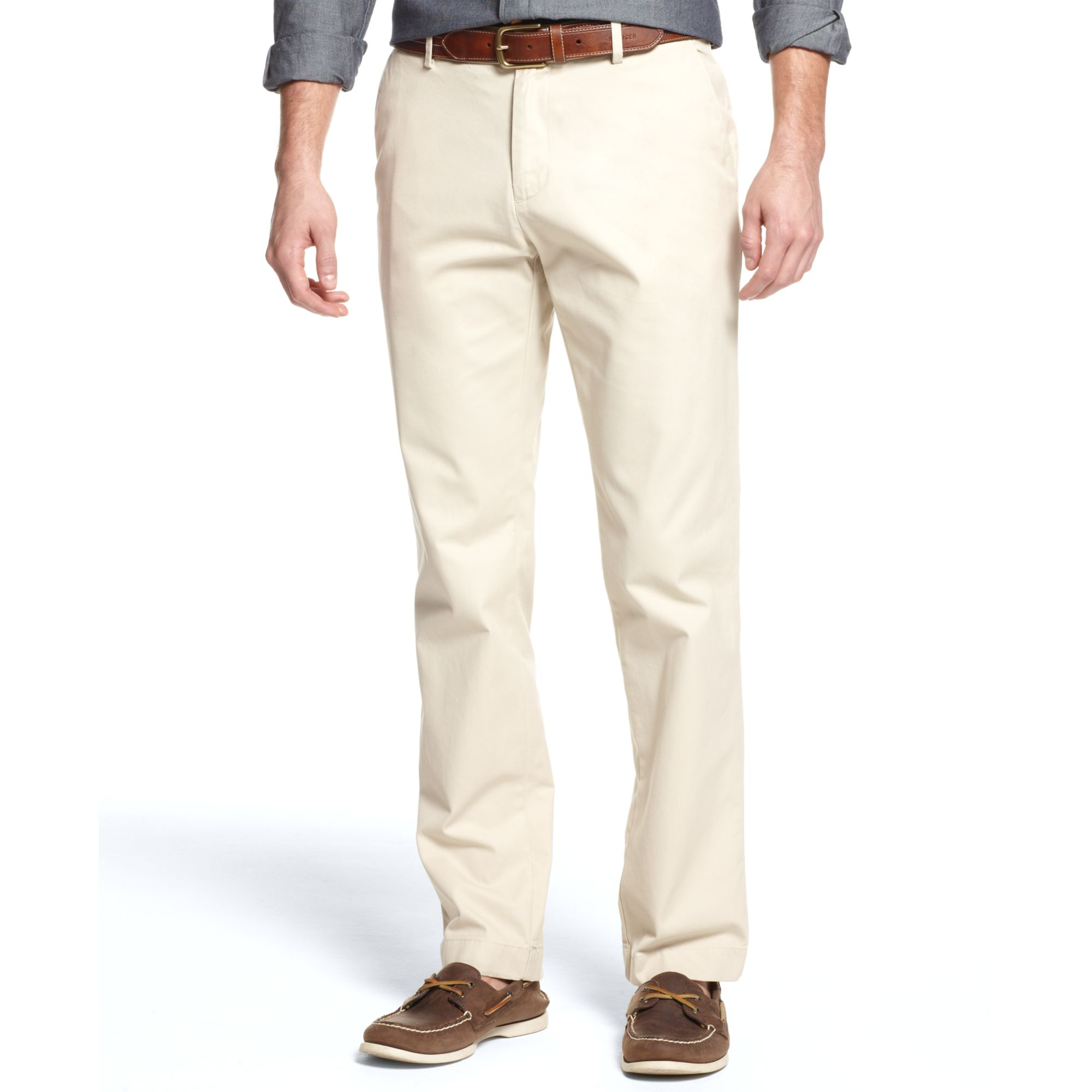 d1580baad Tommy Hilfiger College University Chino Pants in Natural for Men - Lyst