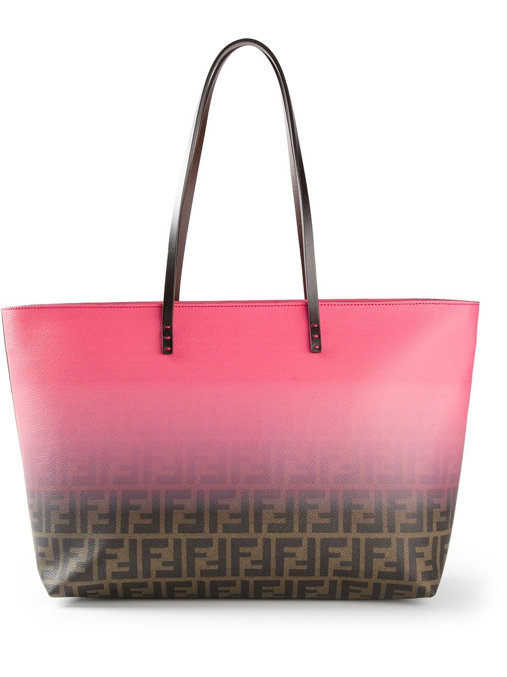 bf2046e03b3 ... low price lyst fendi zucca shopper tote in pink d9f84 11b15 ...