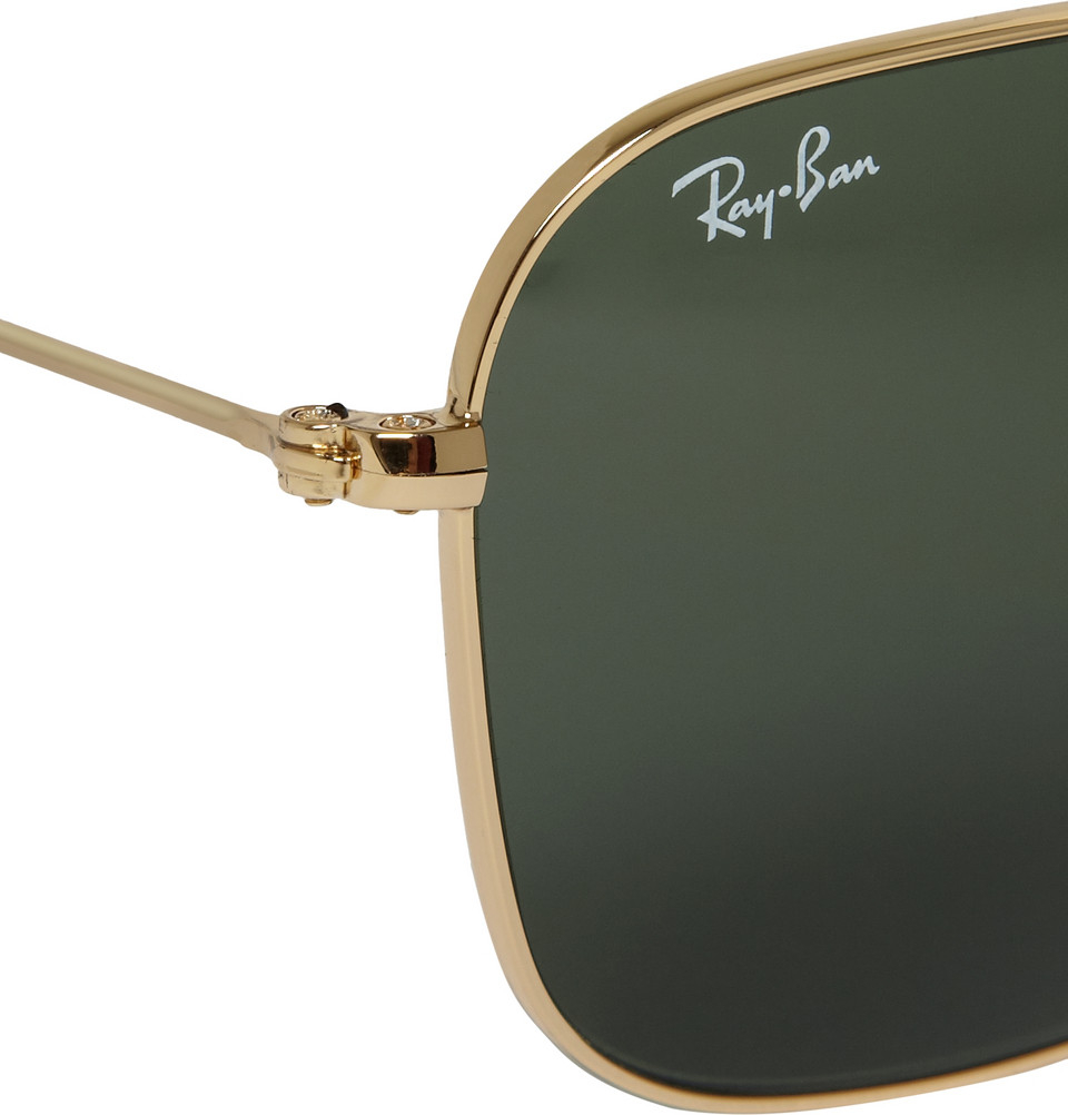 e3c80b0e97 Lyst - Ray-Ban Caravan Metal D-Frame Sunglasses in Metallic for Men