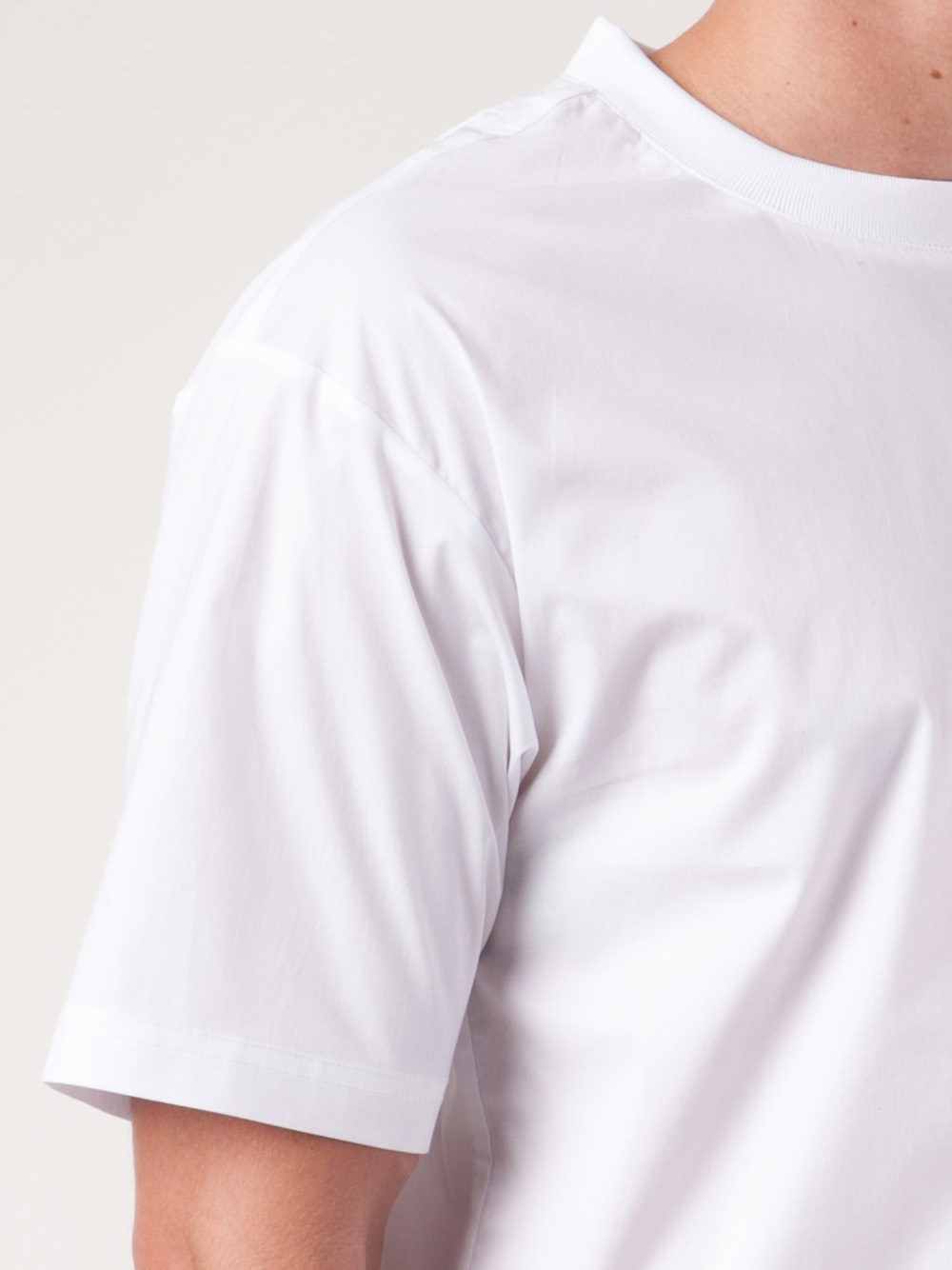 T By Alexander Wang Poplin Tshirt in White for Men