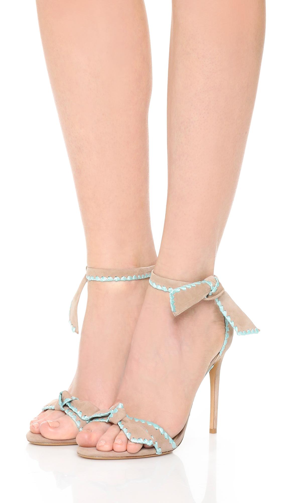 ALEXANDRE BIRMAN Clarita metallic leather sandals