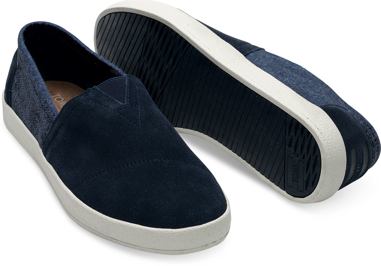 e8c3b6ab86a Lyst - TOMS Navy Suede And Herringbone Men s Avalon Slip-ons in Blue ...