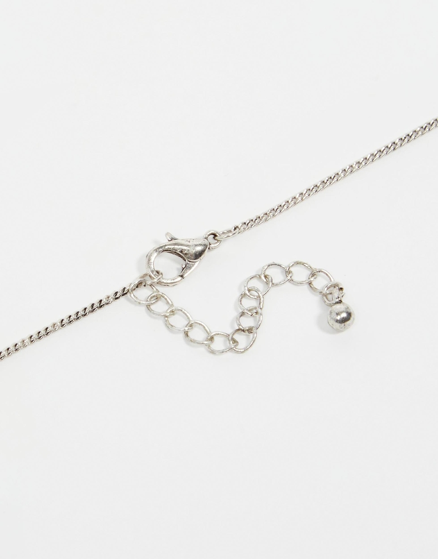 Asos Coin Necklace In Silver In Metallic For Men Lyst