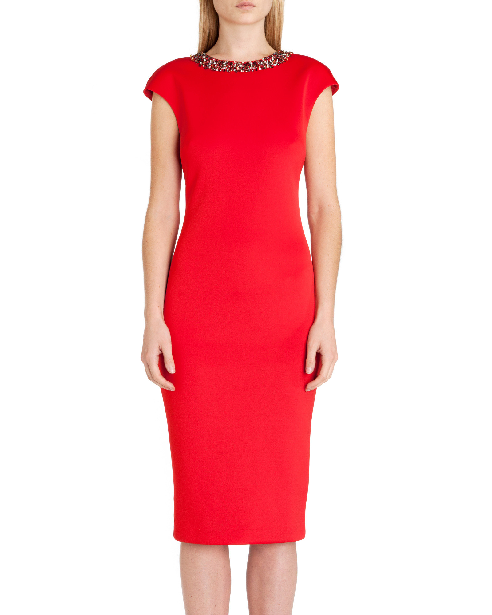 Ted Baker Elenna Embellished Midi Dress In Red Lyst