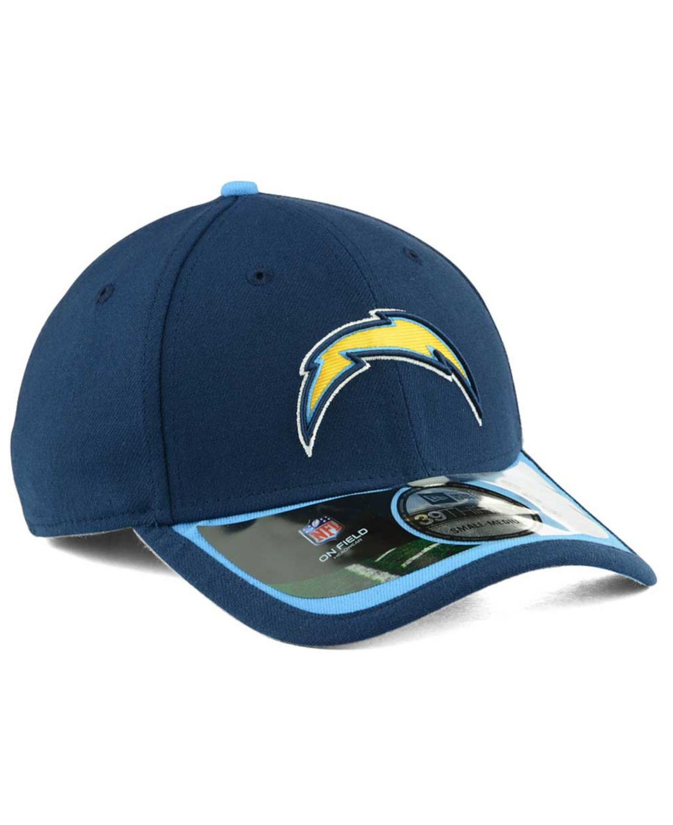 San Diego Chargers Fitted Hats: Ktz San Diego Chargers On-Field 39Thirty Cap In Blue For