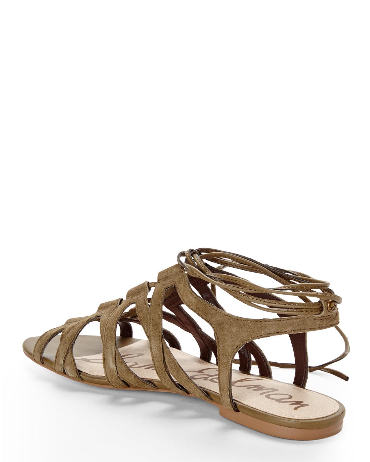 b55cd28407308 Lyst - Sam Edelman Green Boyden Gladiator Sandals in Green