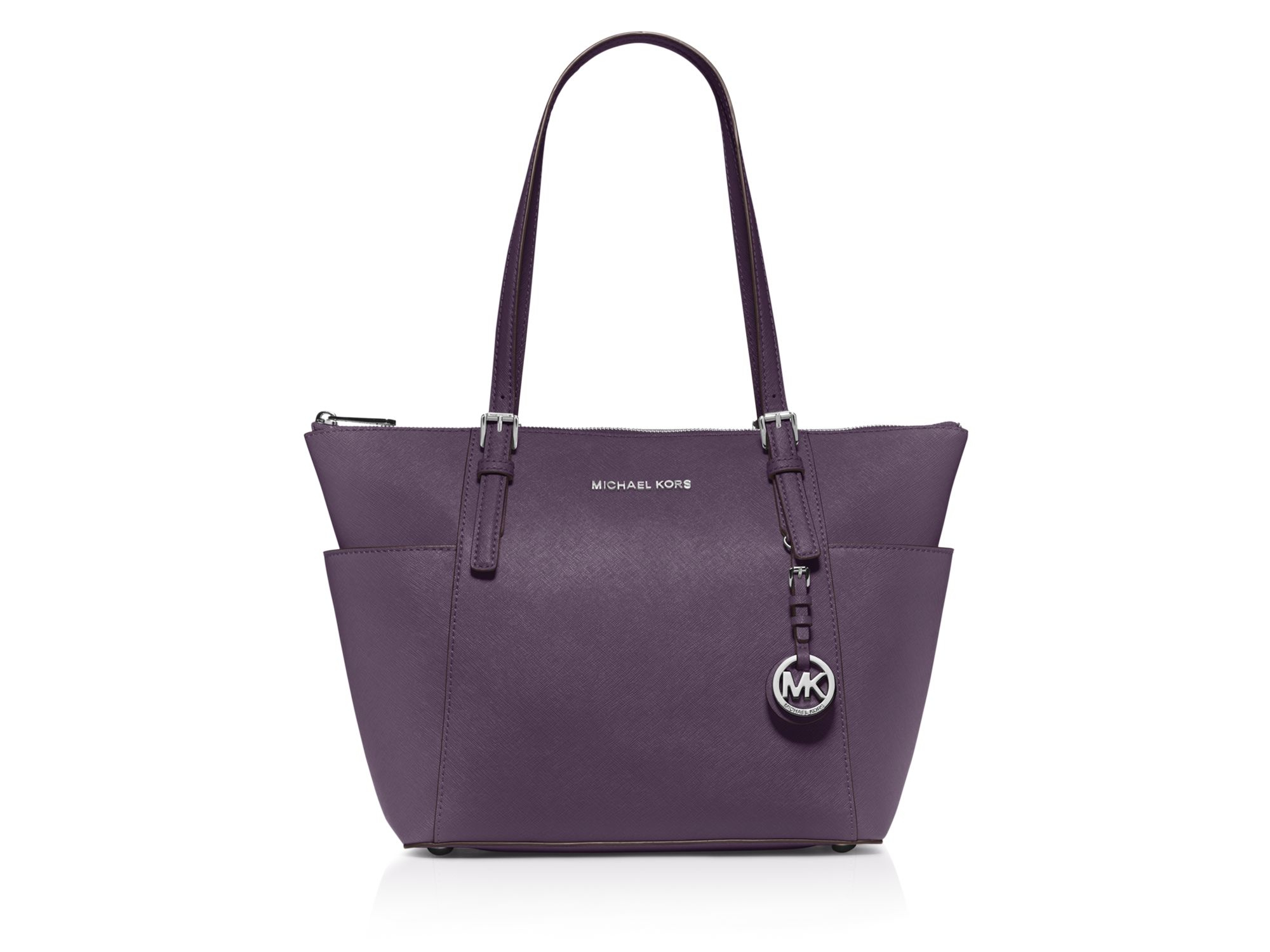 michael michael kors tote jet set east west in purple. Black Bedroom Furniture Sets. Home Design Ideas