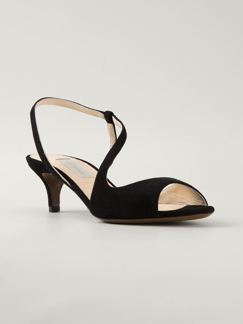 53bbc9295802 Lyst - L Autre Chose Kitten Heel Sandals in Black