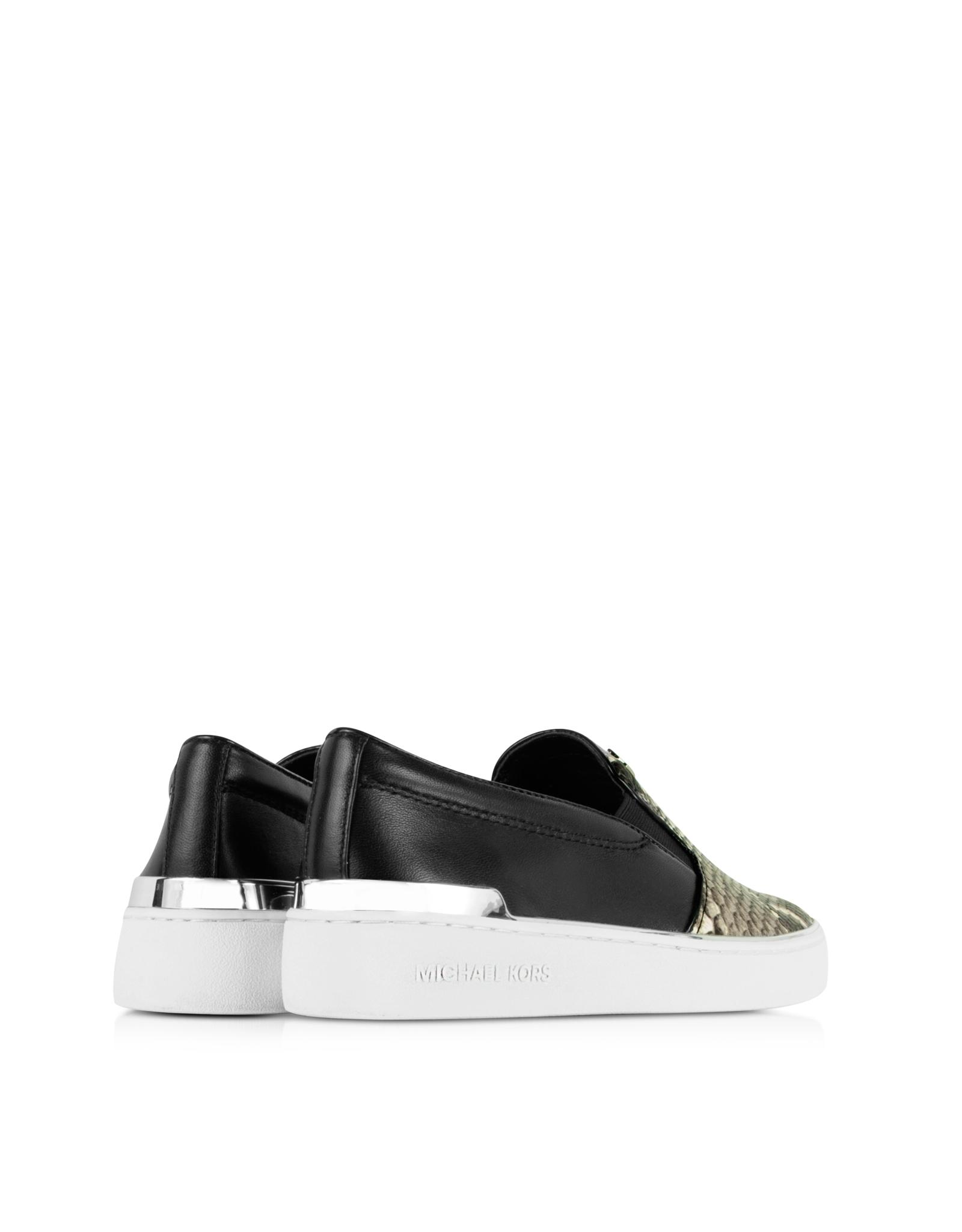 michael kors kyle embossed snake leather slip on sneaker. Black Bedroom Furniture Sets. Home Design Ideas