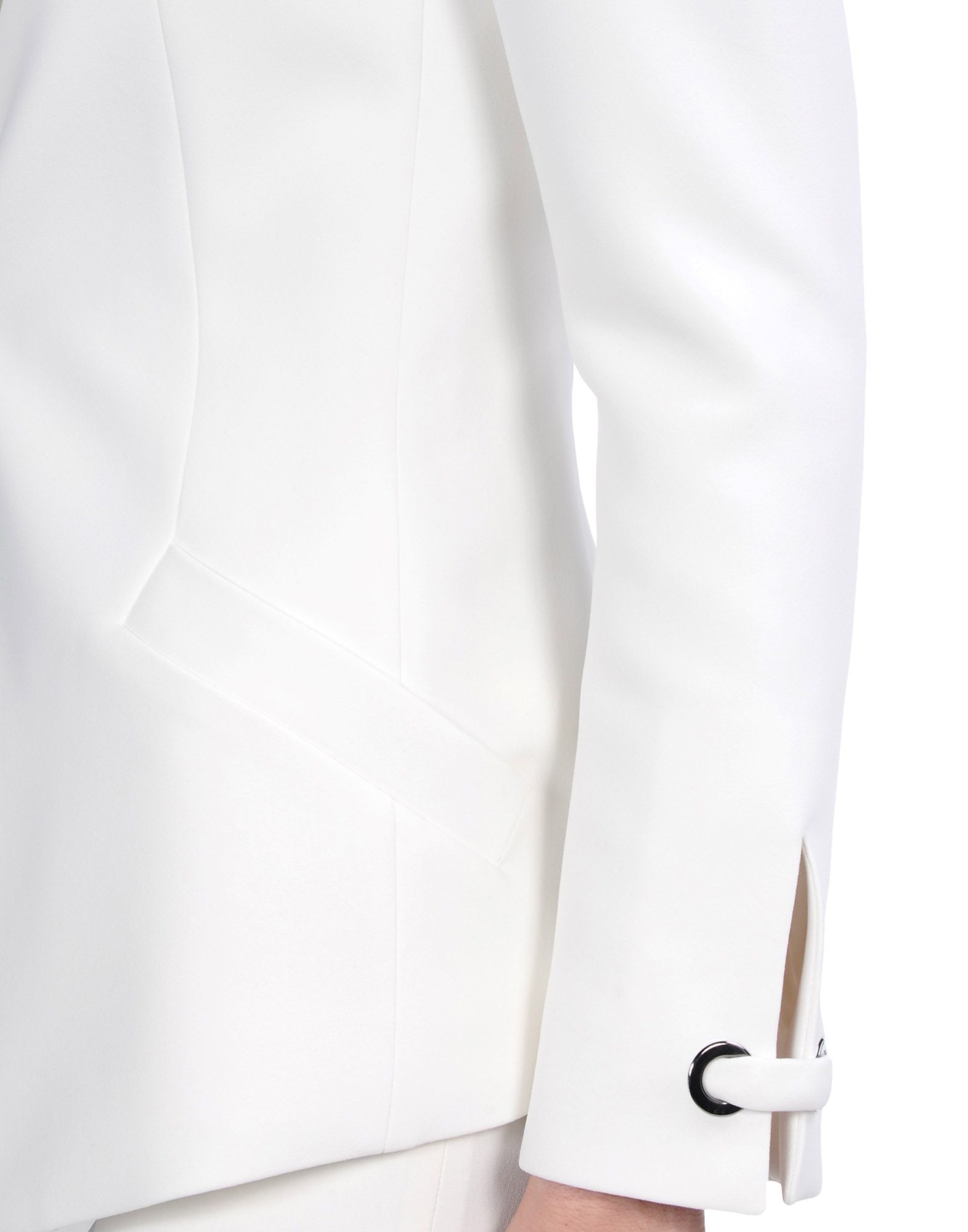 Barbara Bui Crepe Tuxedo Jacket In White Lyst