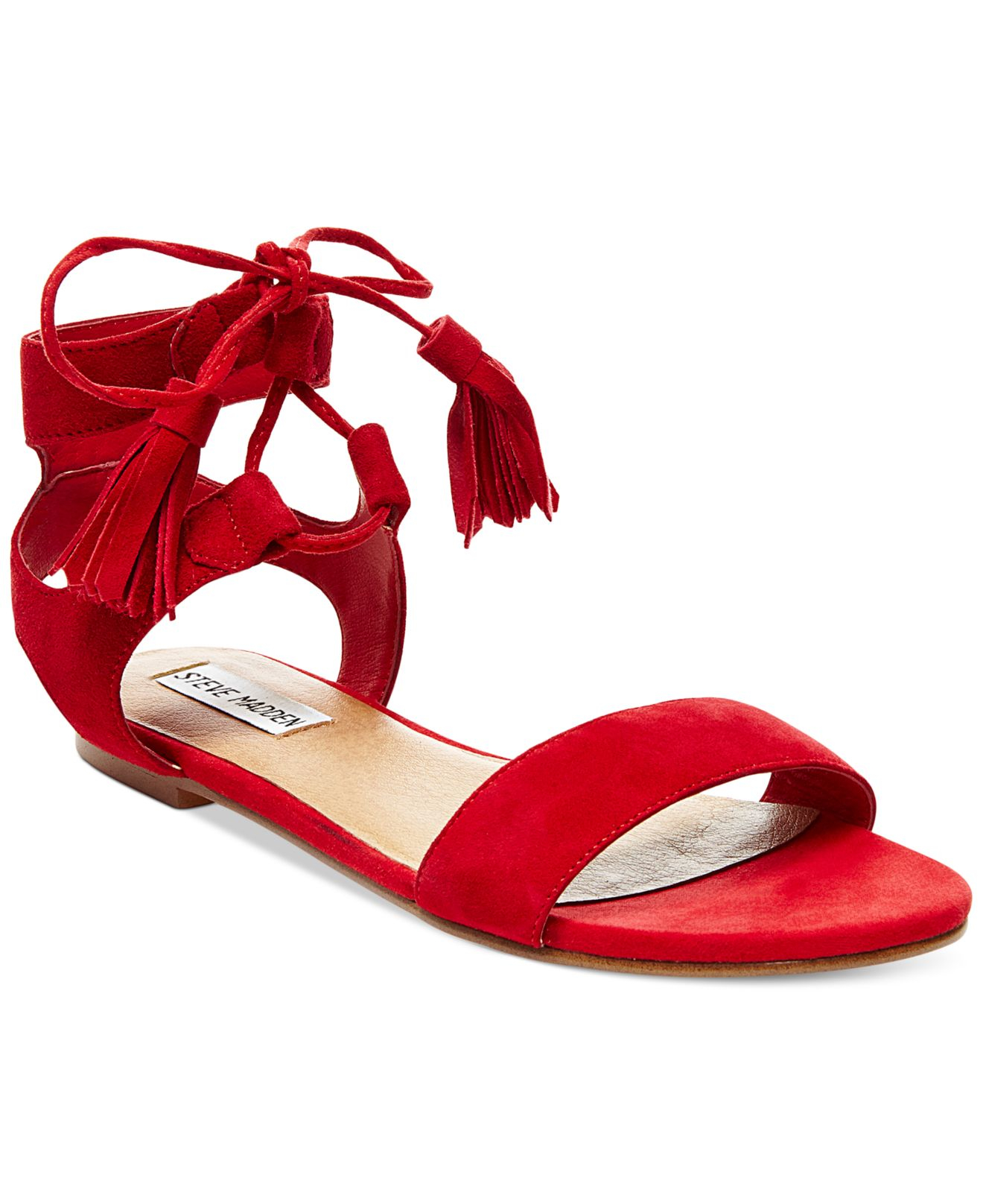 Steve Madden Women S Daryyn Strappy Sandals In Red Lyst