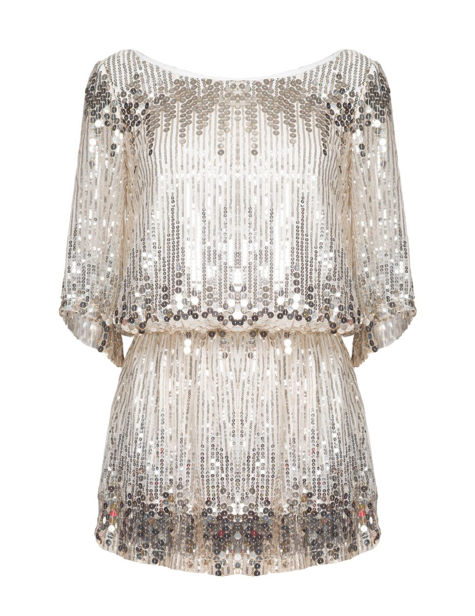 Aftershock Dini Silver Embellished Top in Natural | Lyst