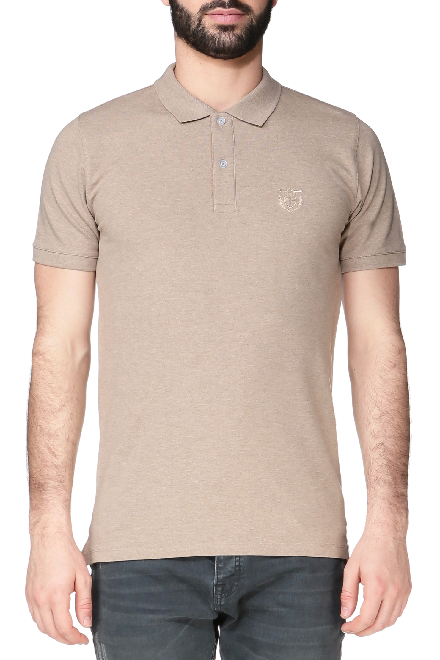 Selected Polo Shirt In Brown For Men Lyst