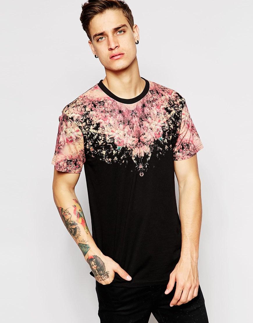 eleven paris x life is a joke t shirt with neck print in black for men lyst. Black Bedroom Furniture Sets. Home Design Ideas