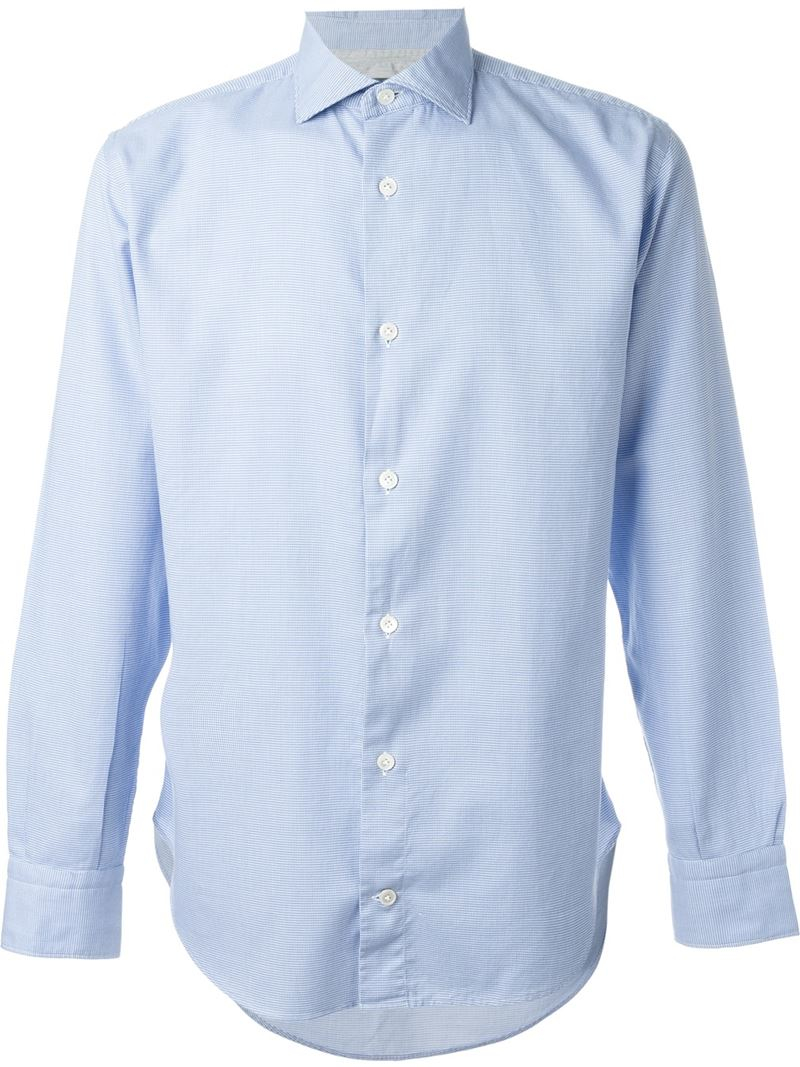 Eleventy Classic Button Down Shirt In Blue For Men Save