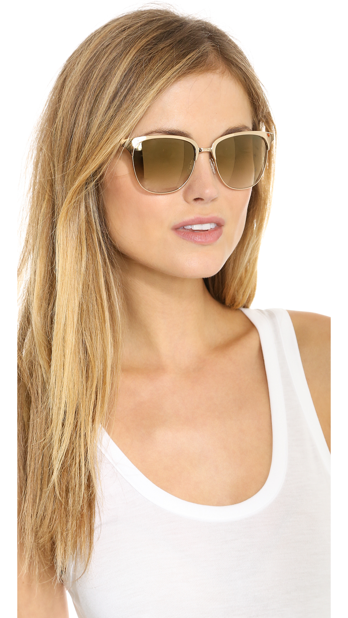 Oliver Peoples Leilana Flash Mirror Sunglasses Crystal