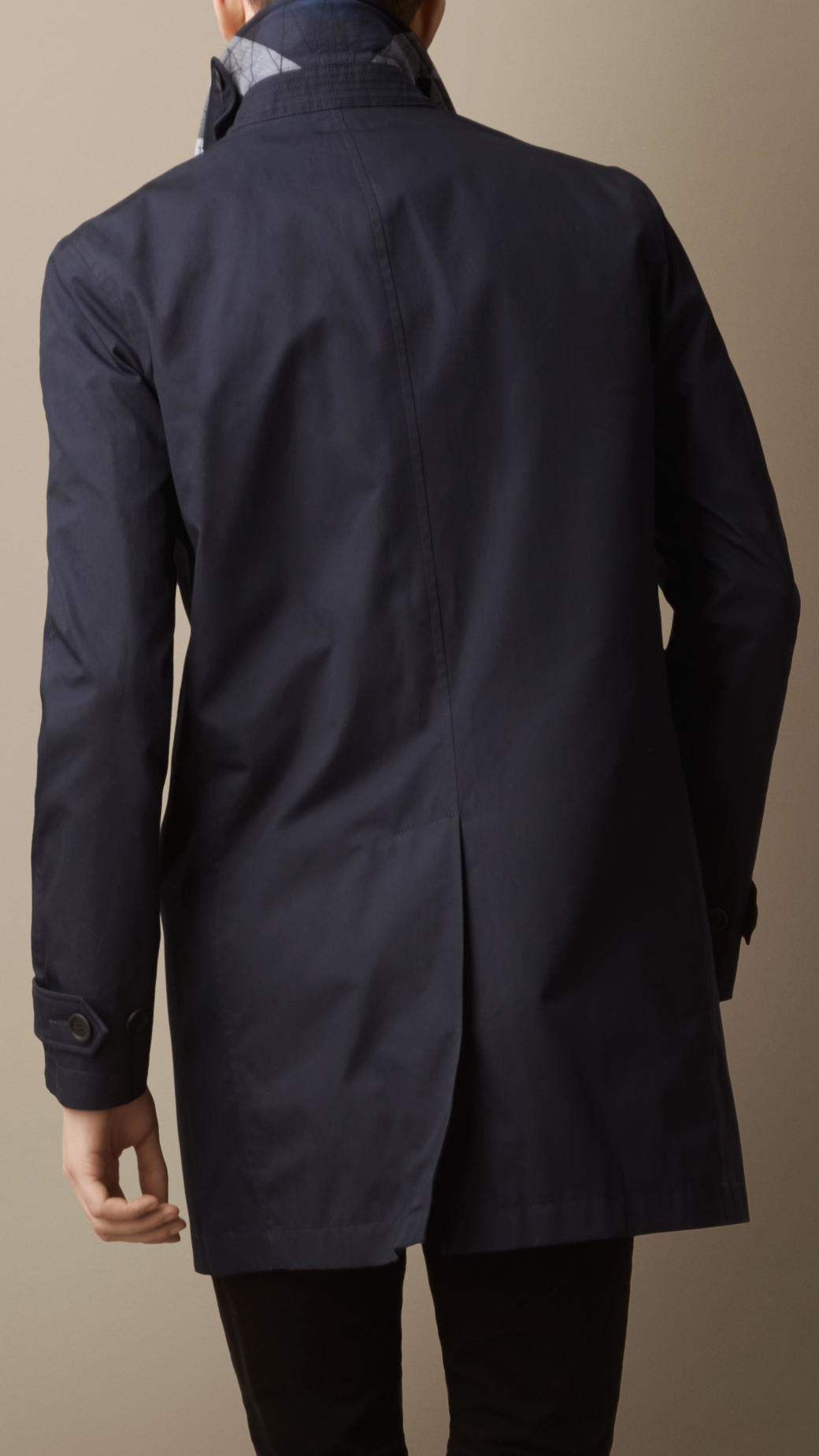 Burberry Lightweight Cotton Car Coat in Blue for Men | Lyst