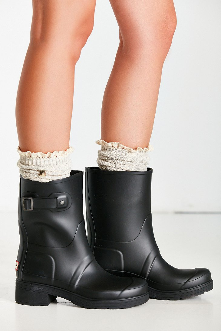 3ce661dbcfb HUNTER Black Original Ankle Boot