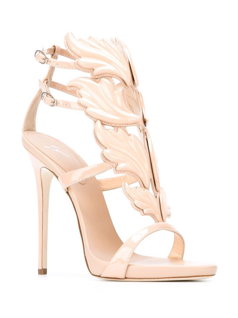 e80185e188bd0 Giuseppe Zanotti Wing Sandals in Pink - Lyst