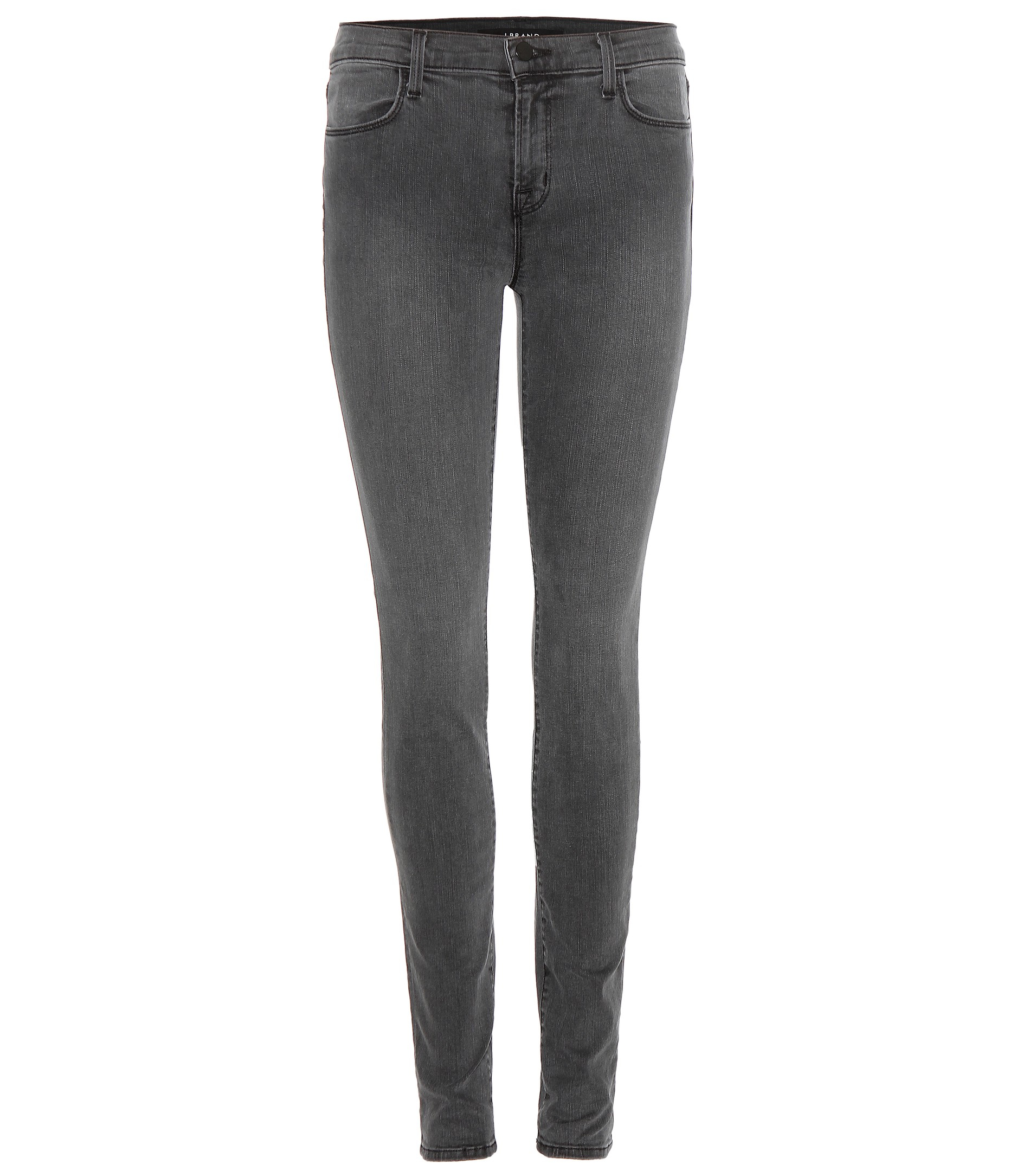 J Brand Mid-rise Super Skinny Jeans in Grey