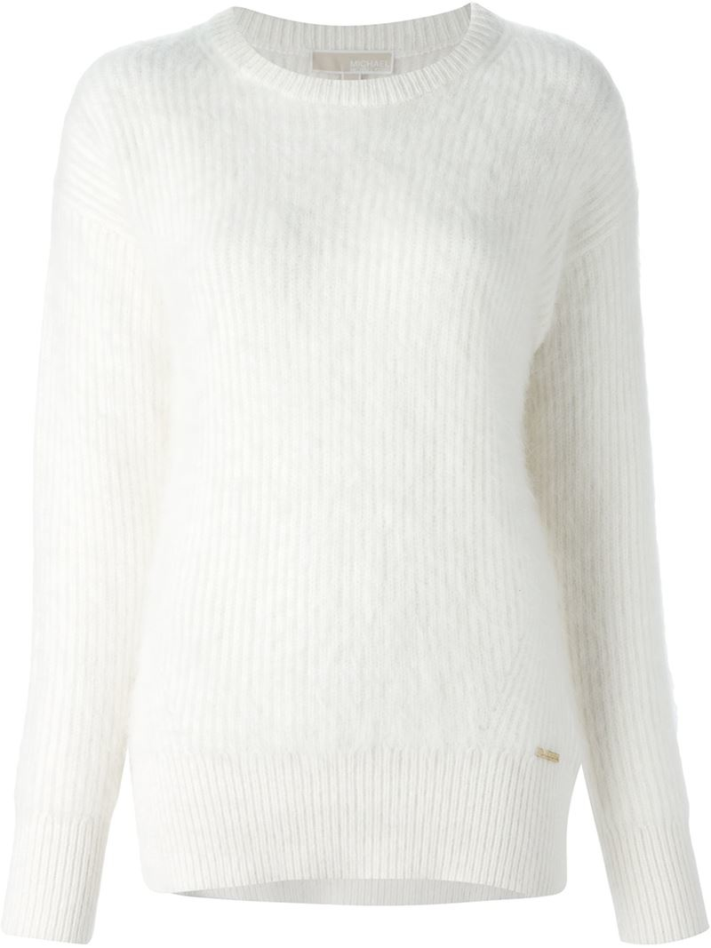Lyst Michael Michael Kors Chunky Knit Ribbed Sweater In