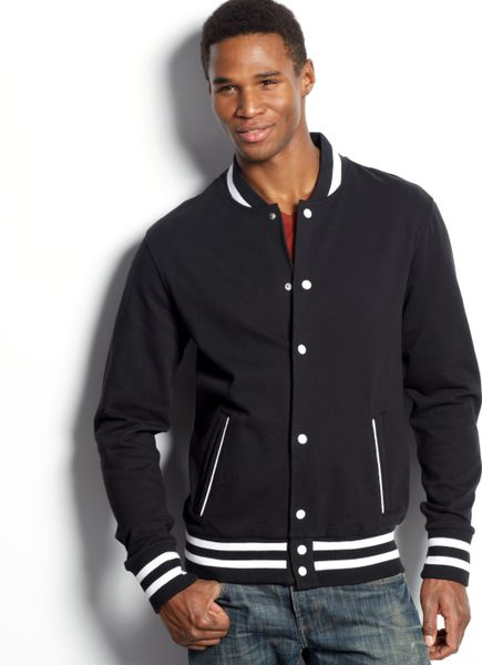 black varsity jacket american apparel