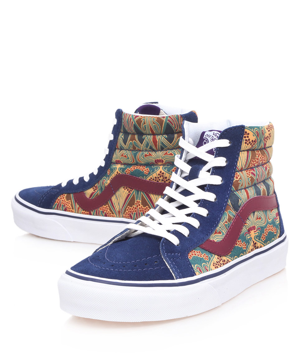 Lyst - Vans Blue Sk8hi Ianthe Print High Top Trainers in Blue for Men 54c6853a6