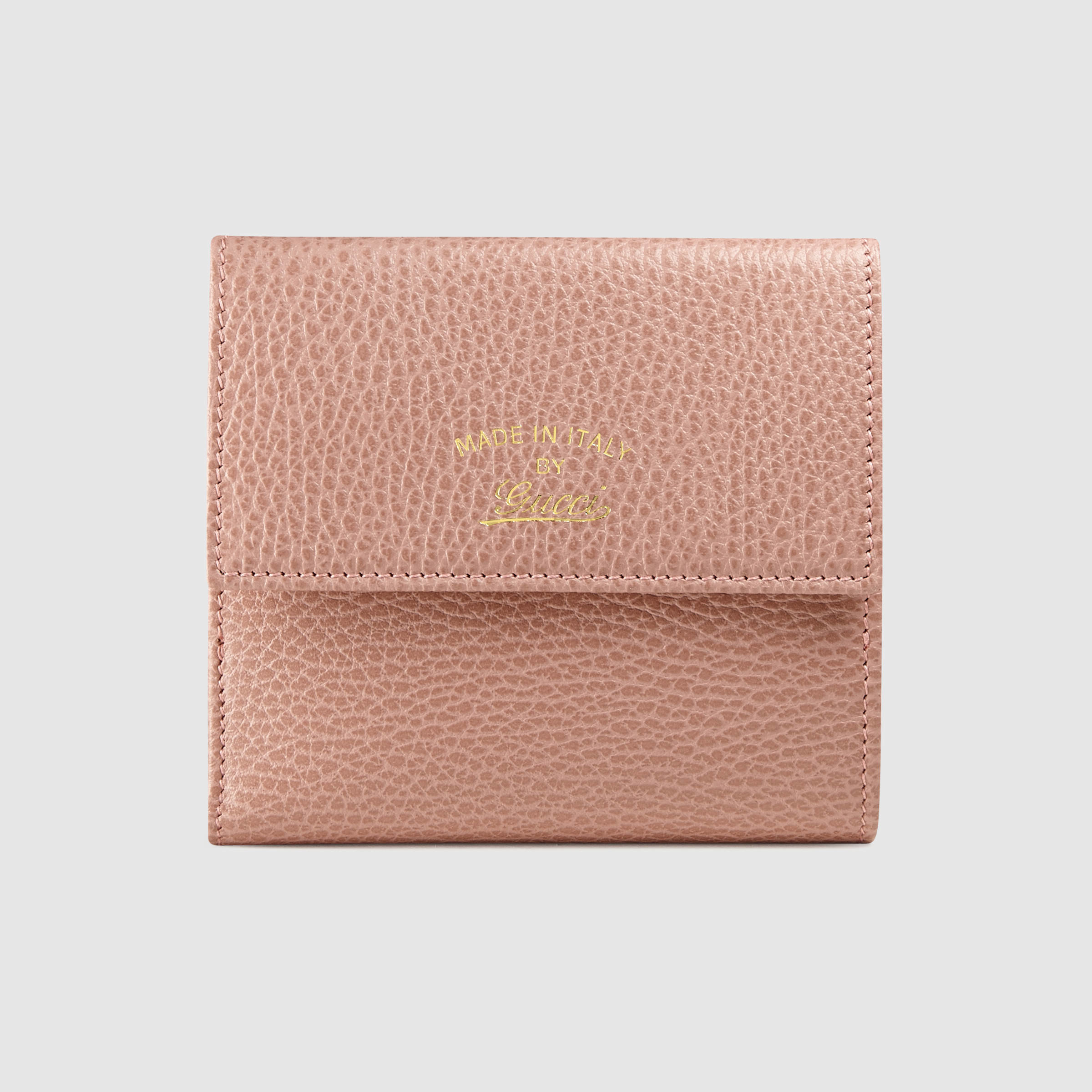 58cdef7525a5 Lyst - Gucci Swing French Flap Wallet in Pink