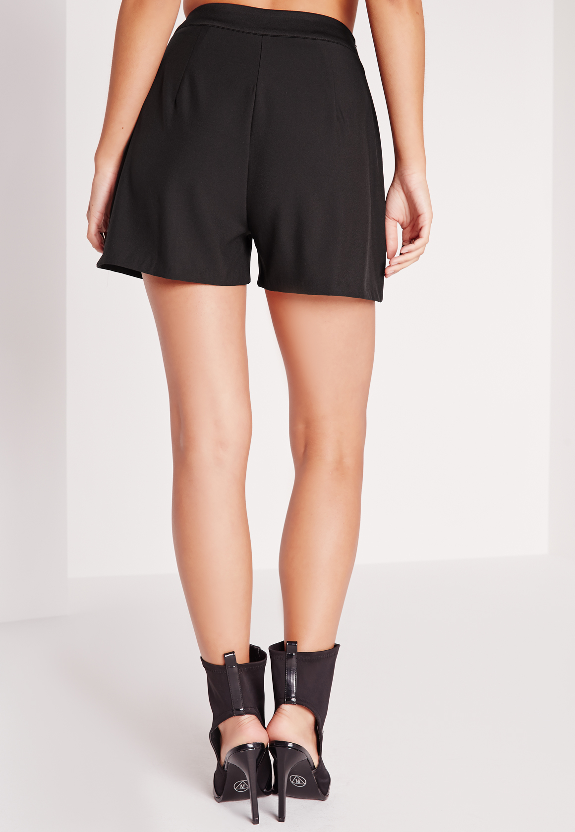Missguided High Waisted Tailored Shorts Black in Black   Lyst