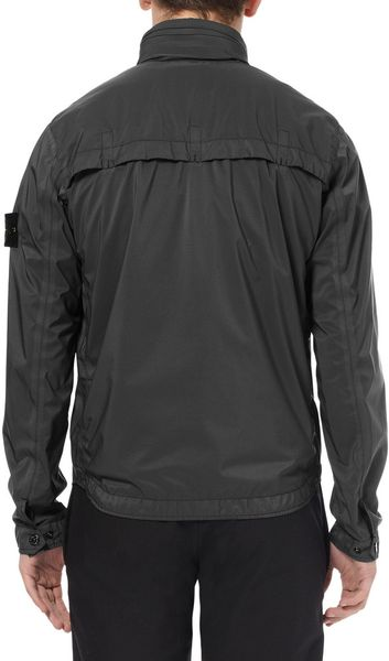 Stone Island Brushedtwill Rain Jacket In Gray For Men Lyst