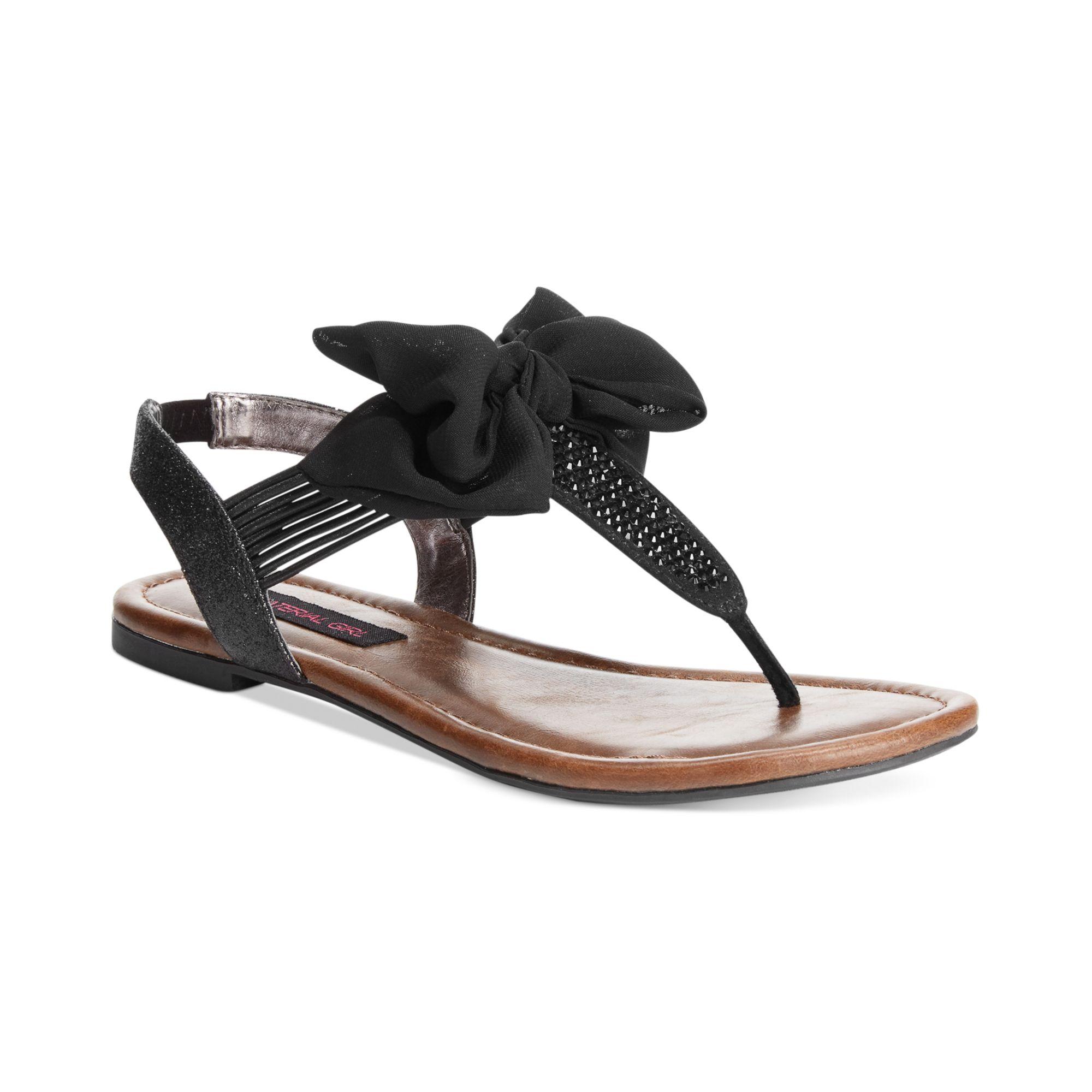 material girl skylar flat sandals in black lyst