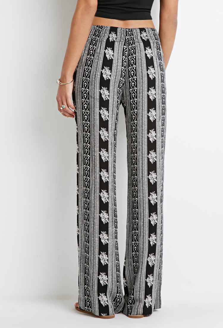 Lyst - Forever 21 Flared Floral-striped Pants You\'ve Been Added To ...