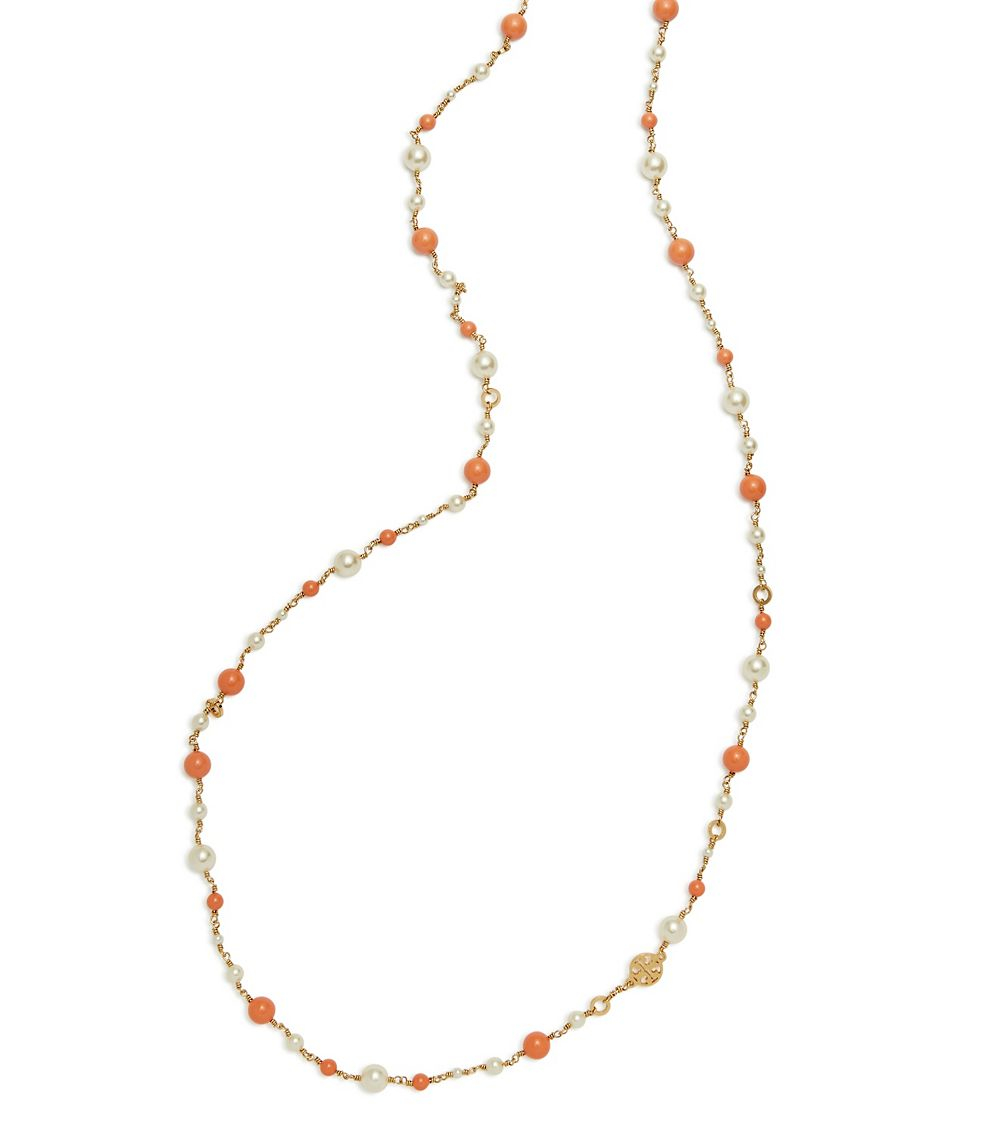 e0402905f142cd Tory Burch Crystal-pearl Convertible Necklace in Metallic - Lyst