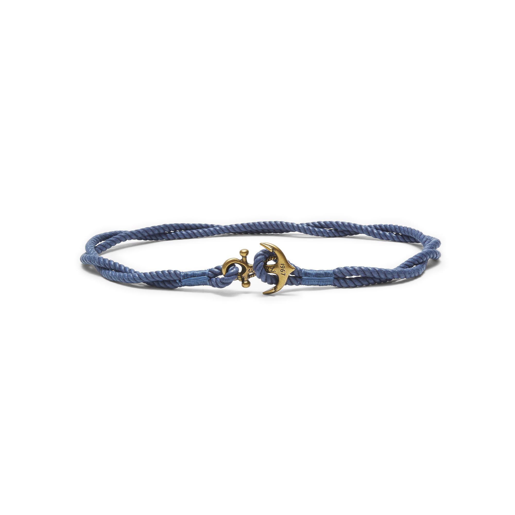 4f8bf34e Polo Ralph Lauren Blue Anchor Rope Belt for men