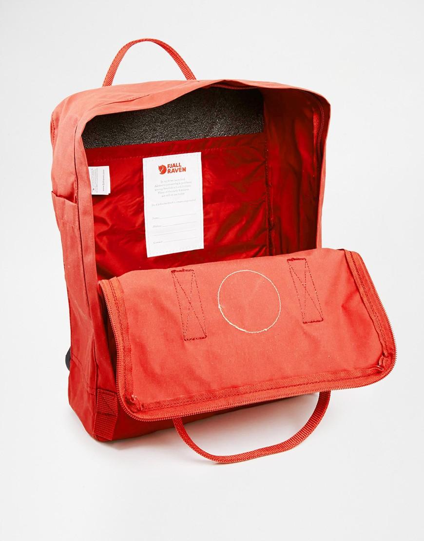 Fjallraven Kanken Backpack In Red Lyst