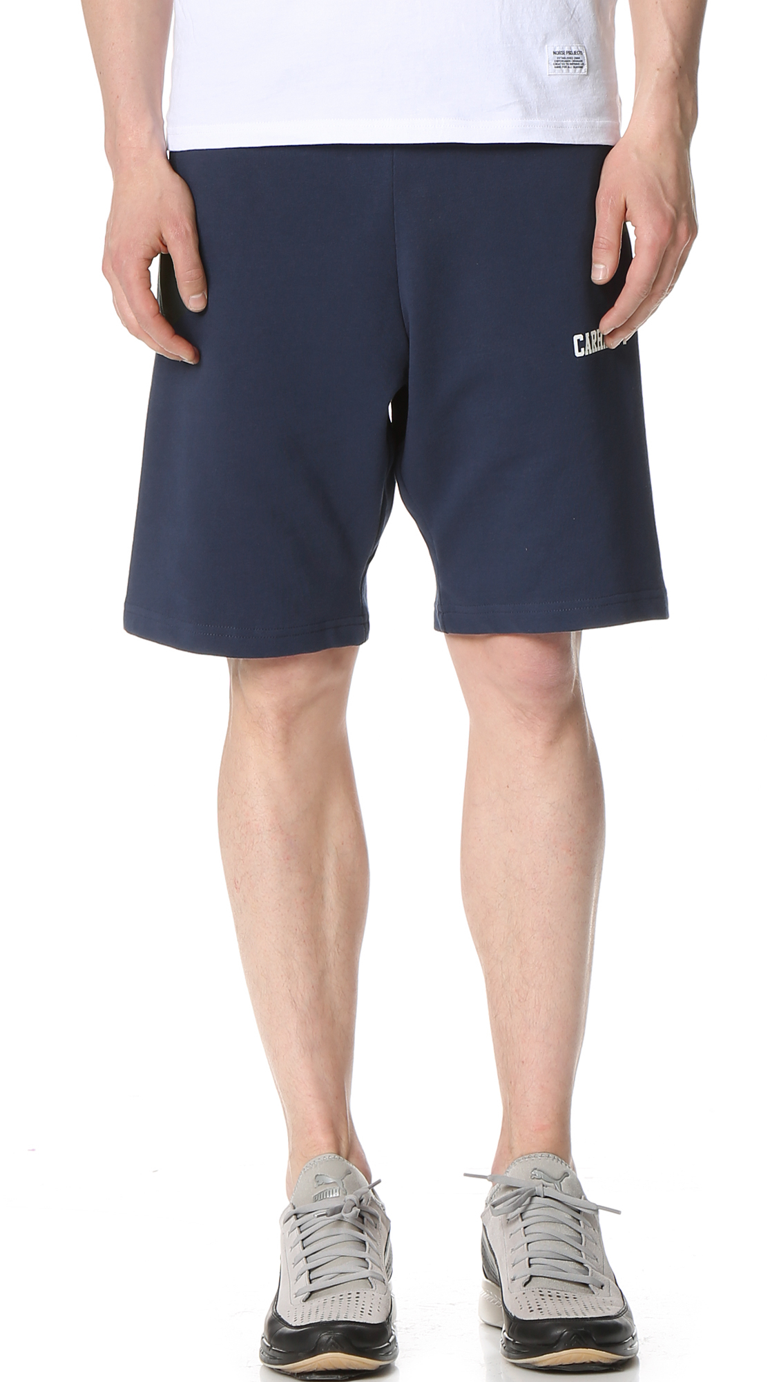 Carhartt wip College Sweat Shorts in Blue for Men | Lyst
