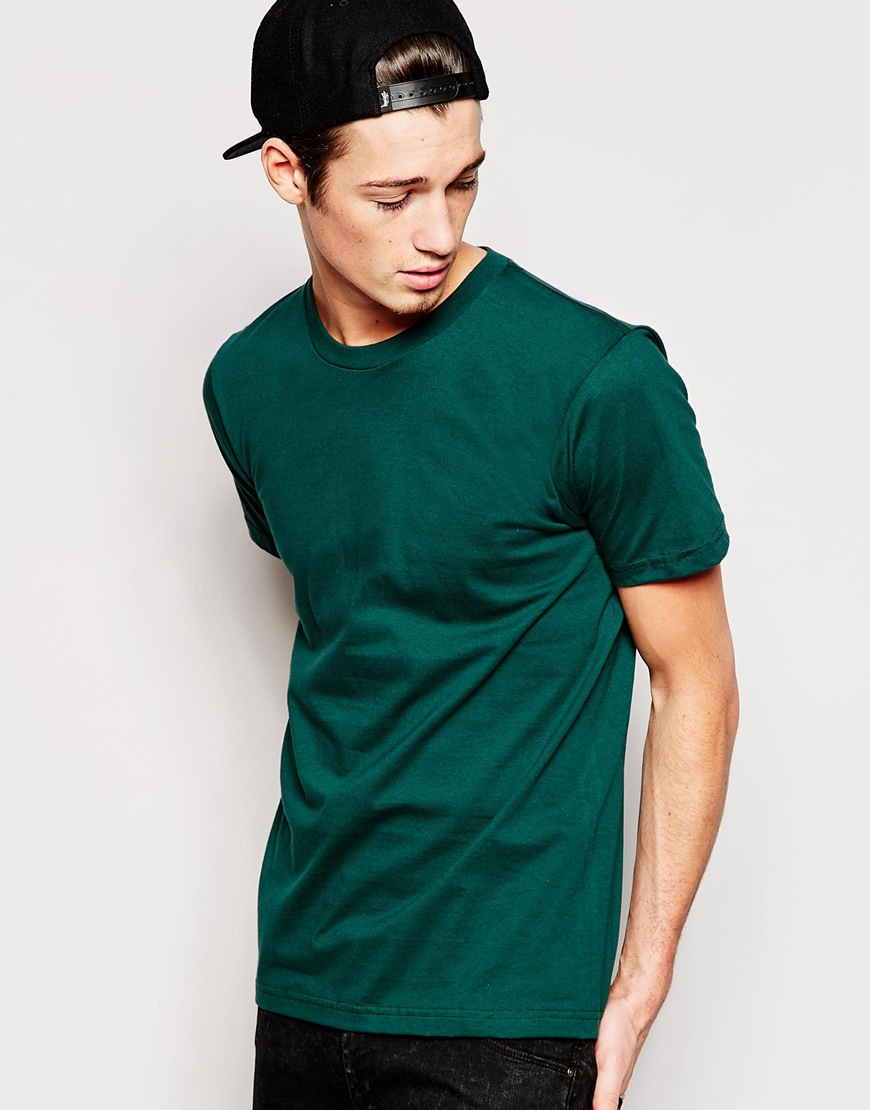 American Apparel Fine Jersey T Shirt In Green For Men Lyst