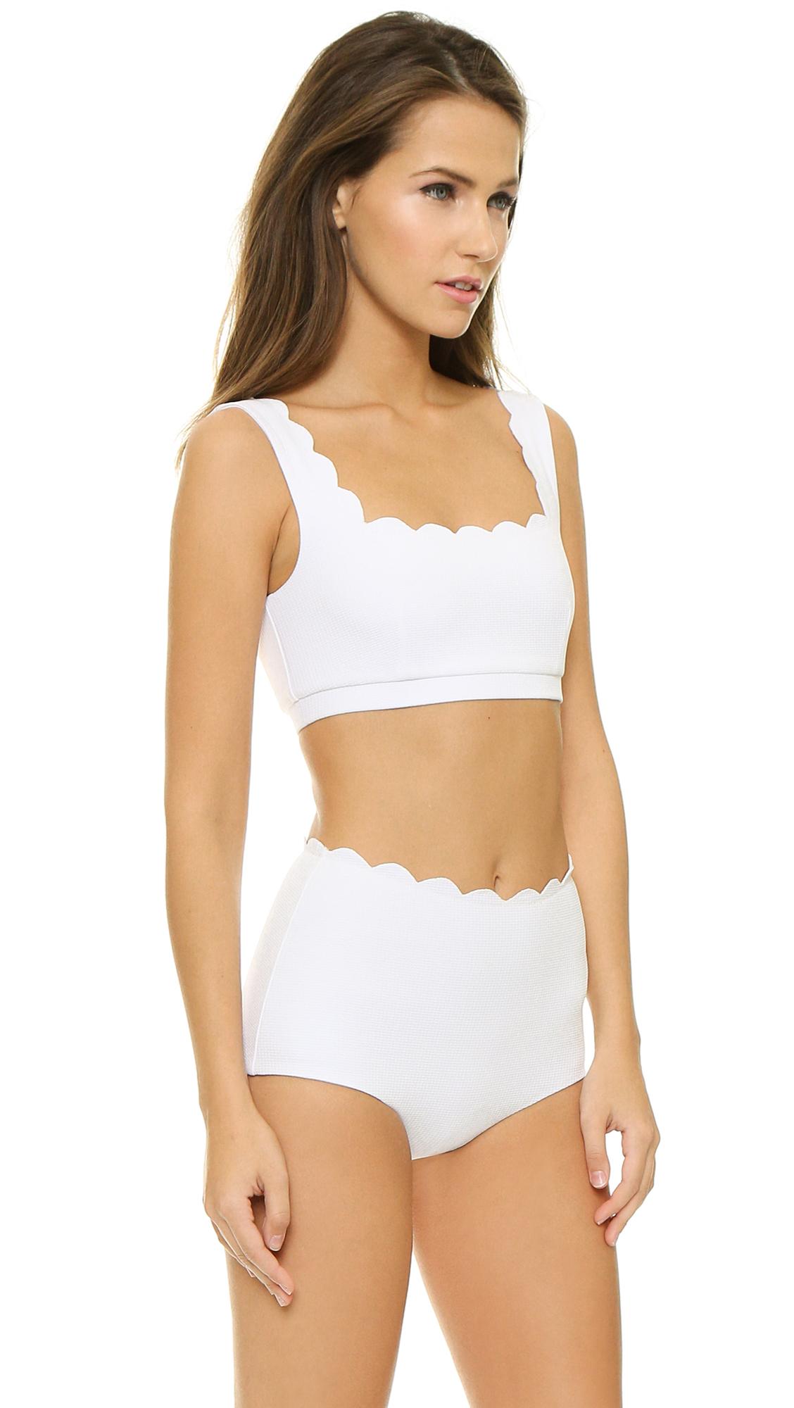 911646792ee Marysia Swim Palm Springs Sporty Bikini Top in White - Lyst
