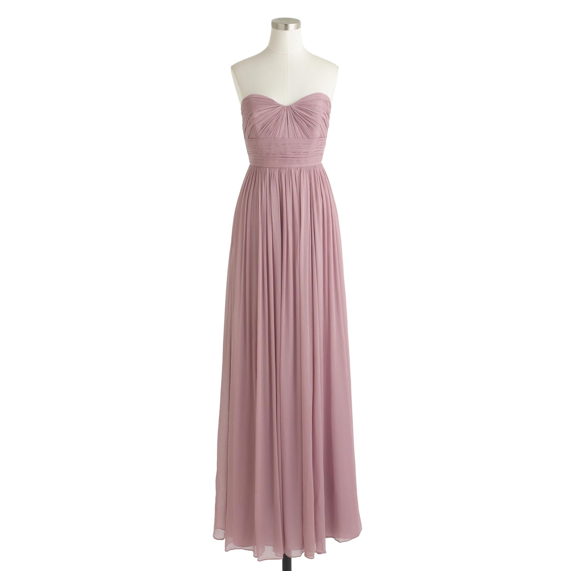 Lyst - J.Crew Marbella Long Dress In Silk Chiffon in Purple
