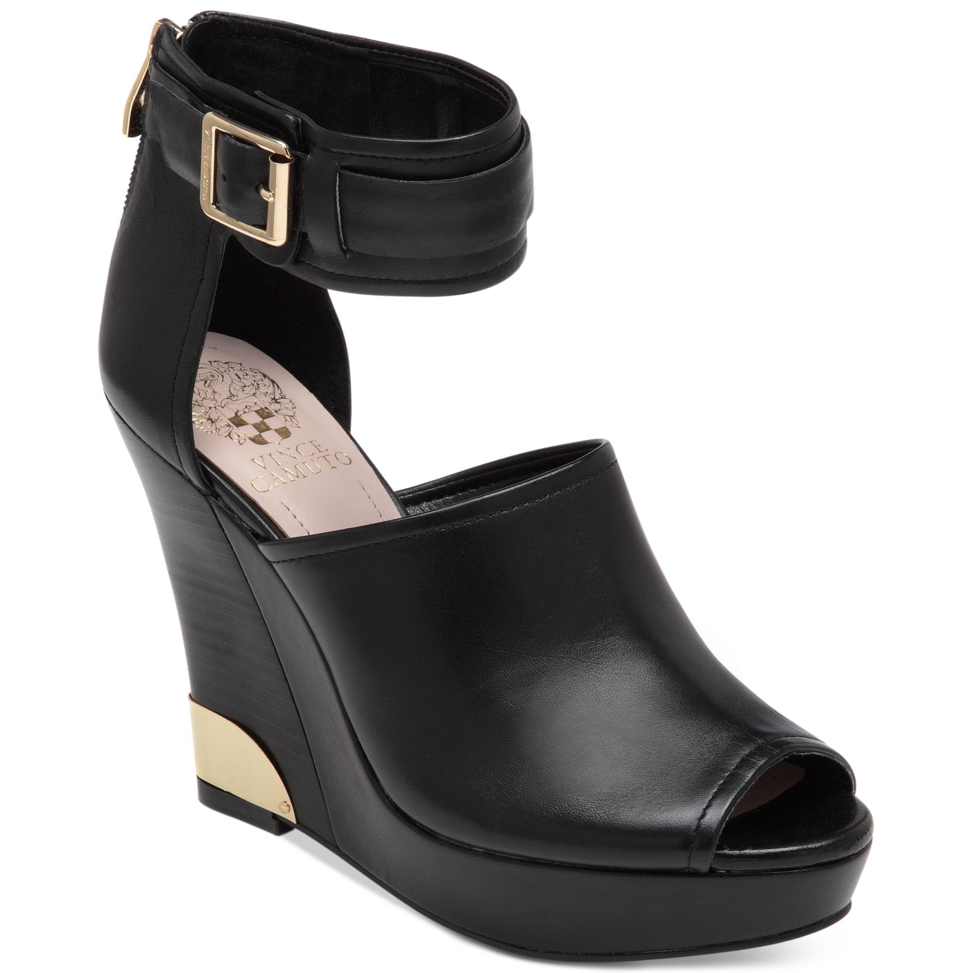 Vince Camuto Wiver Platform Wedge Sandals In Black Lyst