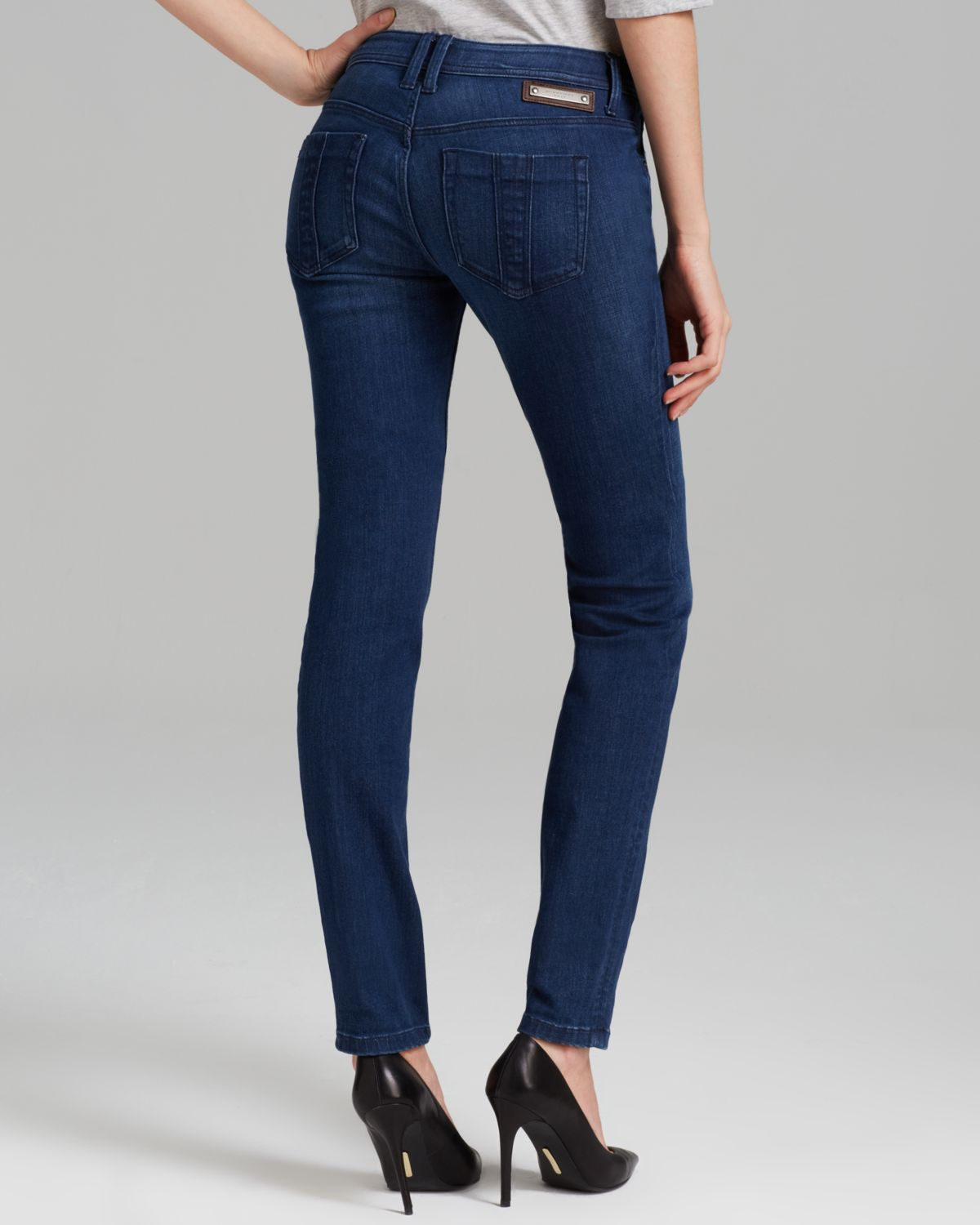 Lyst Burberry Brit Kensington Jeans In Denim Blue In Blue
