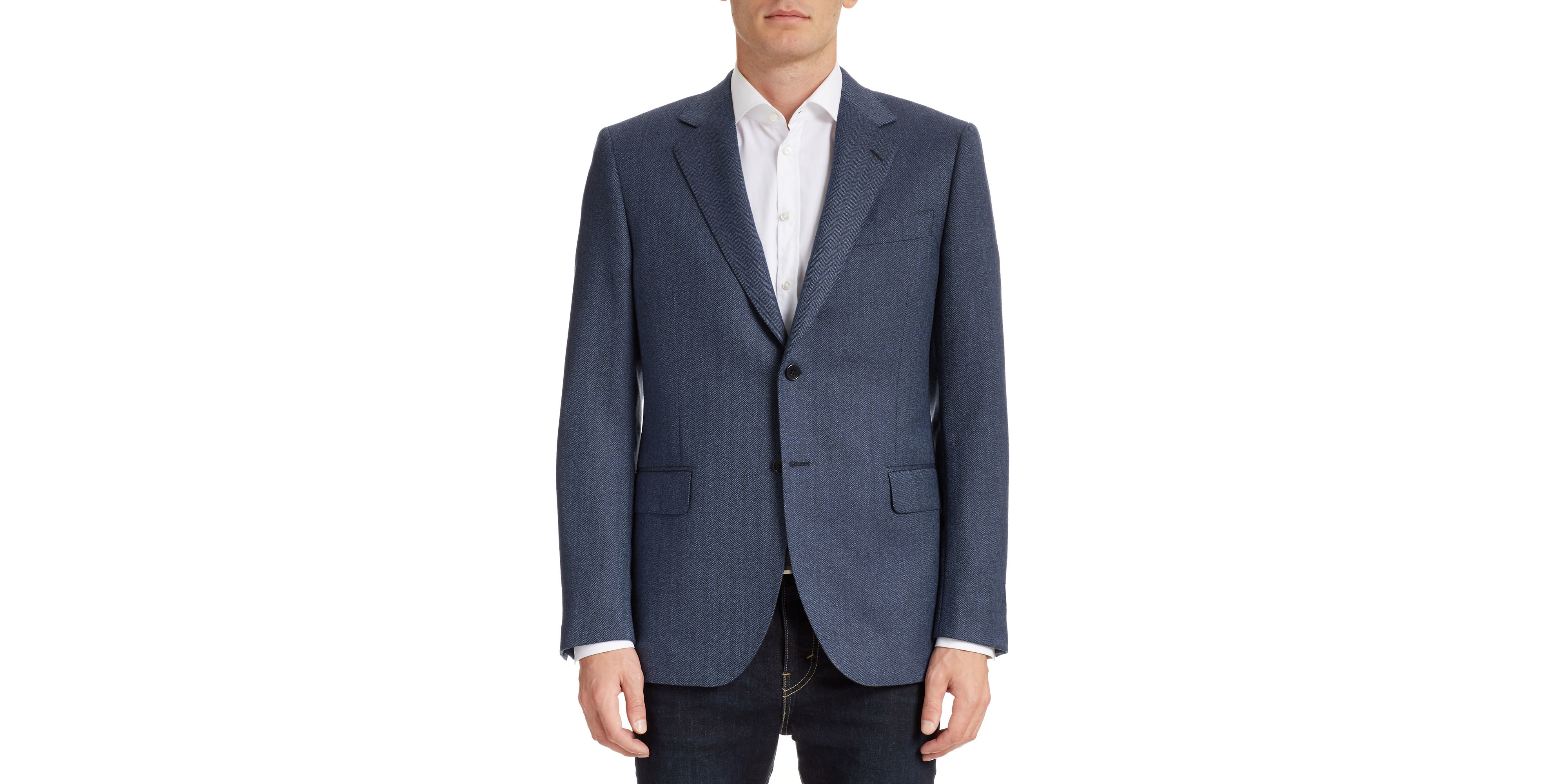 Tombolini Wool Sports Jacket In Blue For Men Lyst